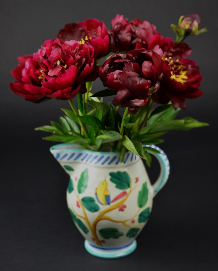Bouquet of Peony Flowers Red Pink Magenta Tree Bulbs Cut Bunch