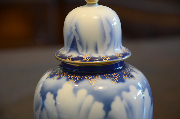 Fukagawa Imperial Fine China of Japanese Porcelain Ginger Jar Peony Made in Japan