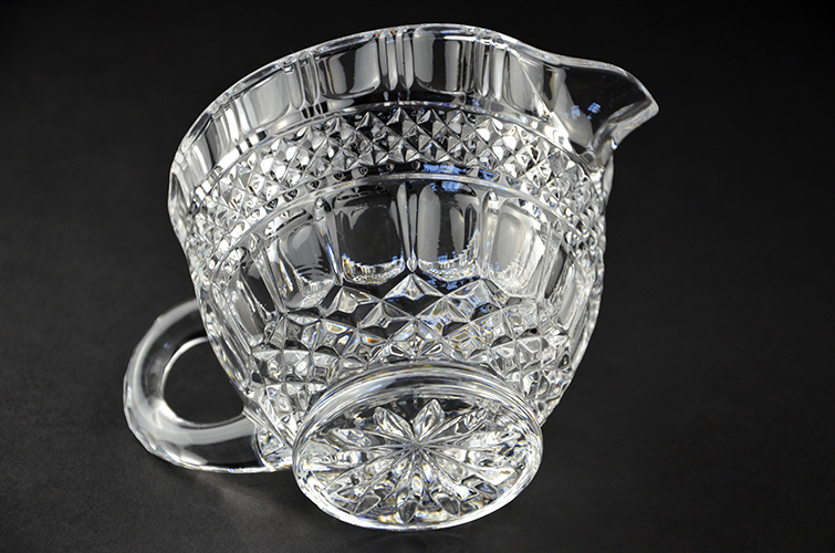 Shannon 24% Lead Crystal Clear Glass Creamer Serving Pitcher Irish Made in Ireland