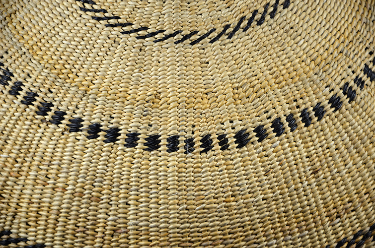 Yanamamo Indian Tribe Natural Fiber Hand Woven Basket South America