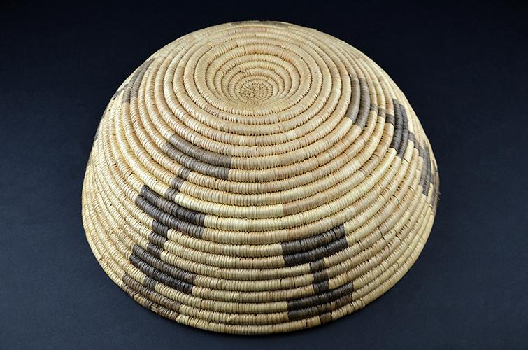 Native American Papago Indian Tribe Hand Woven Natural Fiber Basket Arizona