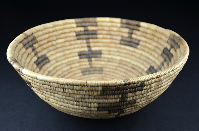 Native American Papago Indian Tribe Hand Woven Natural Fiber Basket Arizona