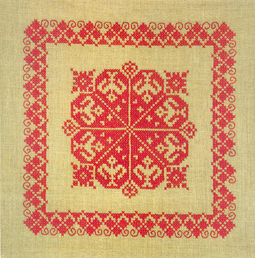 Vintage Lindhorst Needlepoint Stitchery Kit Cross Stitch Tablecloth Runner Made in West Germany