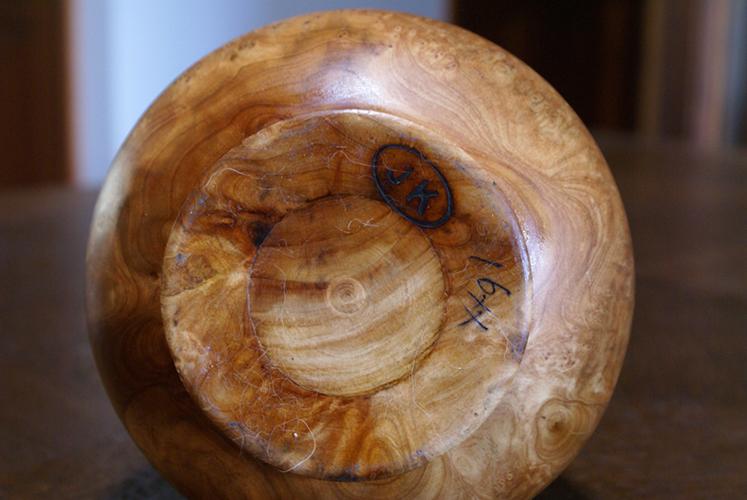Burlwood Maple Natural Solid Knotty Wood Vase Drift Vintage Mid-Century