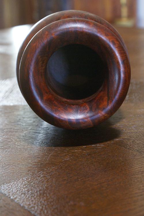 Burlwood Natural Solid Knotty Wood Vase Drift Vintage Mid-Century Home Decor