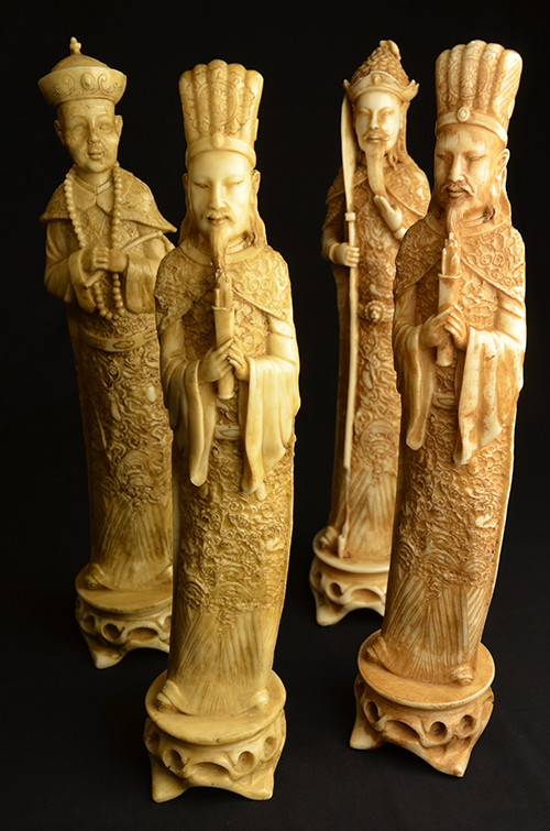 Chinese Resin Figurines Statues Four Wise Men Museum Oriental Asian Art China